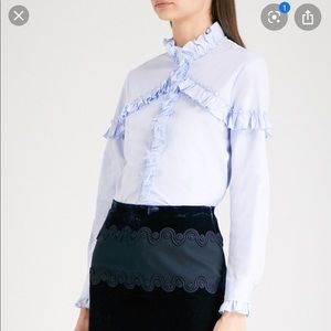 Sandro light blue ruffled shirt